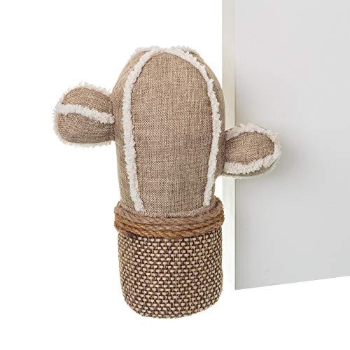 Dcasa - Tope puerta original cactus de tela / arena .