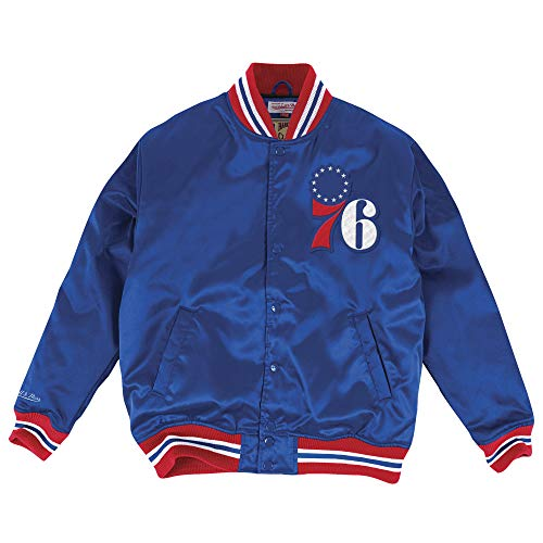 Mitchell & Ness Satin Jacke NBA Philadelphia 76er royal M