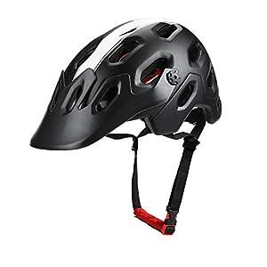 Casco de bicicleta con visera magnética para hombres y mujeres ...