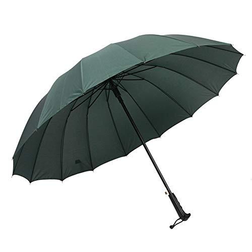 HUITAO Regenschirm, 16 Knochen Automatischer Golfschirm, Wasser- Und Wind Gerade Pol Regenschirm, Portable Multi-Color Optional,Army Green