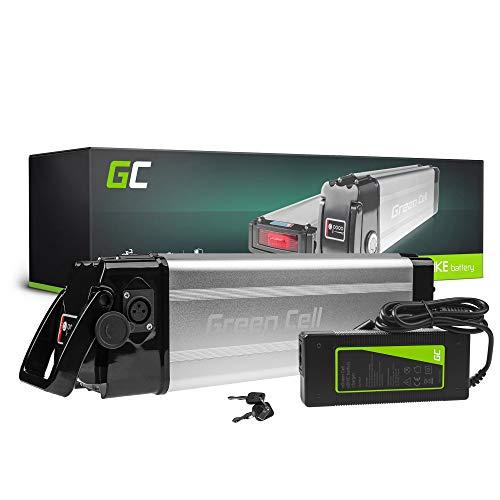 GC Batteria per Bicicletta Elettrica 24V 8.8Ah Silverfish E-Bike Li-Ion Batteria + Caricabatterie