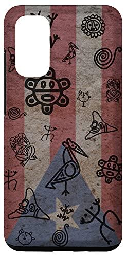 Galaxy S20 Simbolos Tainos En Piedra Bandera de Puerto Rico Boricua Case