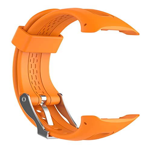 Correa de reloj de silicona para Garmin Forerunner 10 15 Reloj deportivo para correr Pequeño grande para mujeres Hombres Bandas de reemplazo con herramientas ( Color : Orange , Size : 22cm for women )