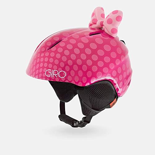 Giro Snow Unisex– Babys Launch Plus Skihelm, pink Bow Polka dots, XS