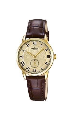 Candino Damen Analog Quarz Uhr mit Leder Armband C4594/4