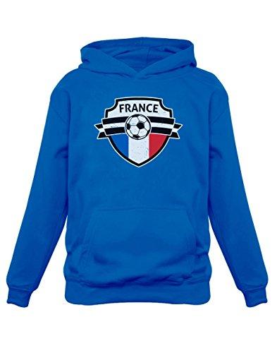 Green Turtle T-Shirts Allez Les Bleus ! France Mondial Football Sweatshirt Capuche Enfant 9/10A Bleu