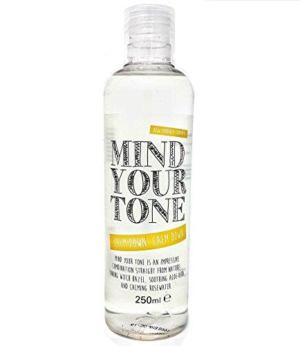 Mind Your Tone - Tonifiant à l'hamamélis, à l'aloès et à l'eau de rose - 250 ml - pourquoile visage | Naturellement astringent - un tonique naturel fabuleux pour les peaux normales à grasses / mixtes | un effet tonifiant et raffermissant naturel sur la peau