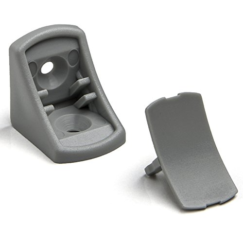 100 Stück SO-TECH® Korpusverbinder Eckverbinder Schrankverbinder Möbelverbinder Winkel für Möbel 24 x 24 x 20 mm Farbe: Hellgrau