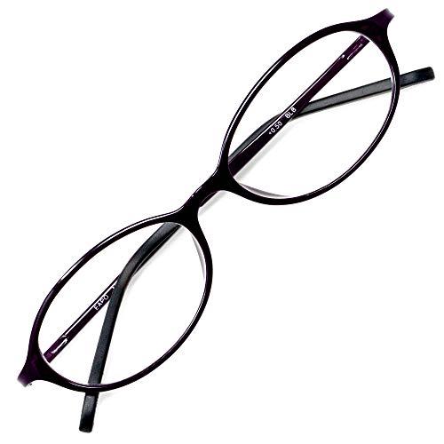 アイウェアエア 老眼鏡 おしゃれ レディース メンズ ブルーライトカット +0.5〜+3.5 4色 オーバル ブルーベリー +0.50