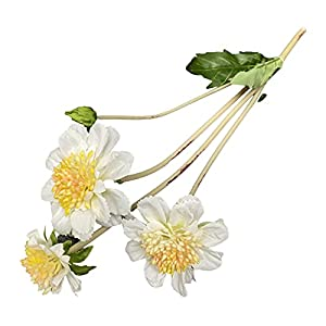 Silk Flower Arrangements Galand Artificial Flower Non-Fading Bright-Colored Long Lasting Wide Application Iris Ensata Thunb Fake Flower for Wedding Home Décor White