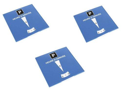 Equilibre et Aventure Lot de 3 disques de stationnement pour zone bleue