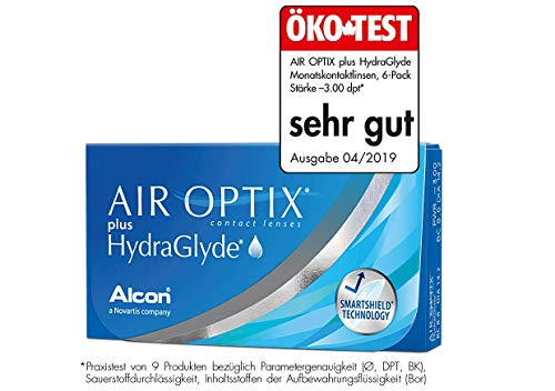 Air Optix HydraGlyde Monatslinsen weich, 3 Stück / BC 8.6mm / DIA 14.2 / -4.75 Dioptrien