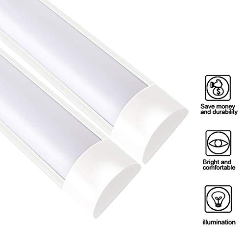 XYD 2 PCS/Set 30w LED Batten Light t10 90cm 4000K Light Tube Lámparas De Luz Diurna Adecuado Para Sala De Estar Pasillo Fábrica Fábrica Supermercado Escuela