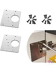 Kastscharnier reparatieplaat, eenvoudig te monteren verborgen kastscharnier, bevestig de scharnierende deurpanelen, zowel deur- als zijpanelen kunnen worden gebruikt, met schroeven