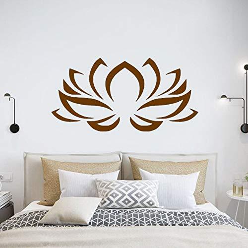Flor de loto patrón arte calcomanía decoración bohemia Buda Mandala Yoga estudio dormitorio decoración DIY vinilo pared pegatina Boho cartel Mural