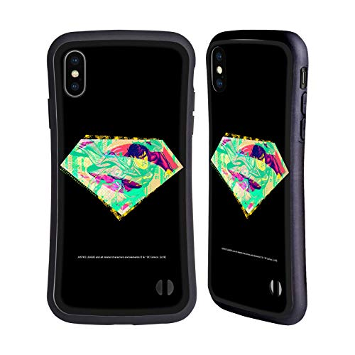 Official Justice League DC Comics Superman Dark Electric Pop Icons Hybrid Case Compatible for iPhone XS Max