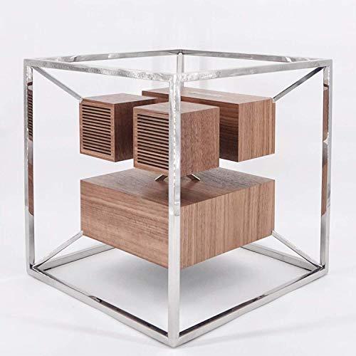 Jarre Technologies - Altoparlante di design collegato Aeroframe HD1-200 W, AeroSystem, in legno di noce, colore: Argento cromato