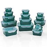 GOURMETmaxx Set di 14 contenitori per Alimenti Senza BPA e con Coperchio Incluso | Chiusur...