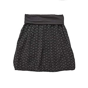 Ballonrock Winter Cord schwarz gemustert | Dehnbarer Bund 60-110cm | praktisch geeignet Umstandsrock | Einheitsgröße