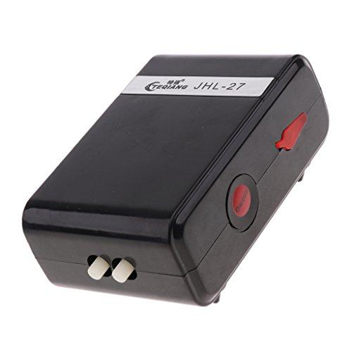 PETSOLA Tragbare Mini USB Wiederaufladbare Aquarium Luftpumpe Sauerstoffpumpe - Doppel Ausgänge