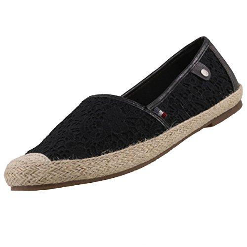 MUSTANG Damen Espadrilles Schwarz, Schuhgröße:EUR 36