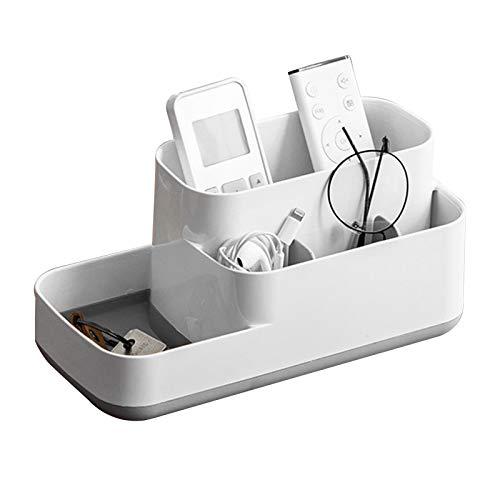 Caja organizadora con Soporte para Control Remoto de TV con 5 Compartimentos, Carrito de Almacenamiento de Oficina Multifuncional