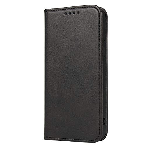 H-basics Funda para Samsung Galaxy S9 – Funda para Samsung Galaxy S9 – en negro – tarjetero, función atril y cierre magnético invisible