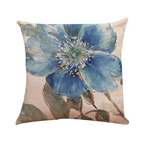 Shirt Luv Pillow Case Bird Flower Printed Flax European Style Mixed Cushion Cover 45x45