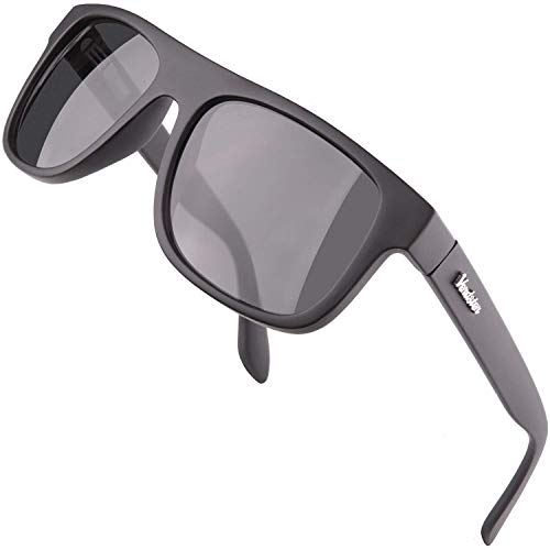 Verdster Islander – Gafas de Sol Clásicas de Espejo Anchas para Hombre & Mujer – Gafas de Sol Anchas a la Moda – Accesorios Incluidos