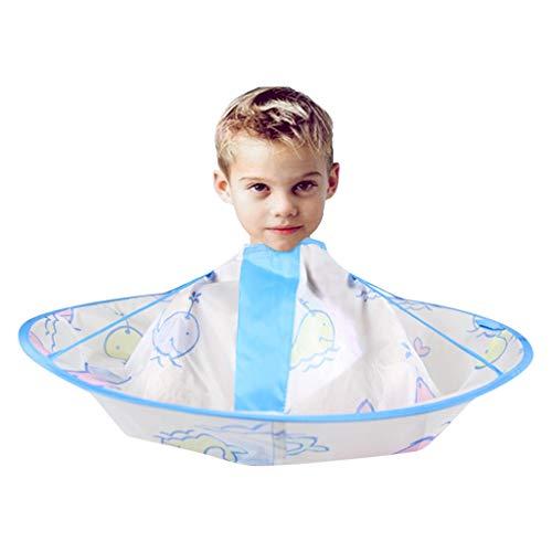 Kind Haar Schneideumhang Regenschirm Schneiden Umhang Regenschirm Cape Salon Barber Friseurumhang Schneiden Kleid - Salon Cape Umhang für 5-10 jährige Jungen und Mädchen.