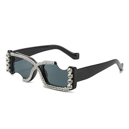 ZZZXX Gafas De Sol Hombres Gafas De Muesca Personalidad Diamante Retro/Aire Libre Deportes Golf Ciclismo Pesca Senderismo 100% Protección Uva Gafas Unisex Golf Conducción Gafas Gafas De Sol
