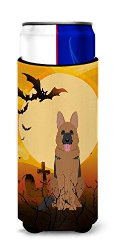Caroline tesoros del bb4333muk Halloween pastor alemn Michelob Ultra Hugger para Slim latas, multicolor