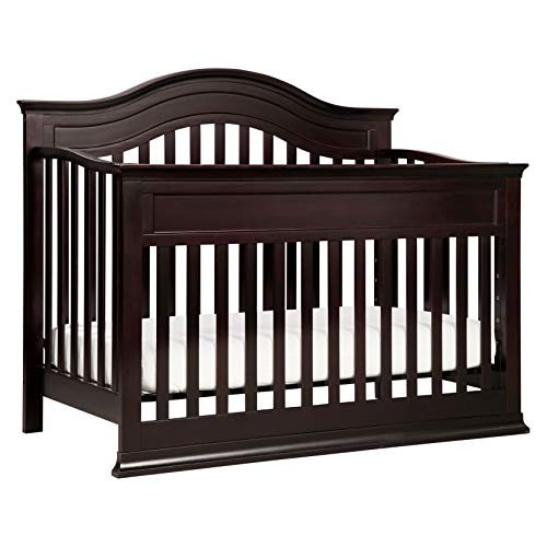 DaVinci Brook 4-in-1 Convertible Crib with Toddler Bed Conversion Kit in Dark Java, Greenguard Gold Certified
