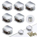 6 Piezas Sólido Abrazadera de Vidrio Ajustable Soporte Clip de Vidrio...