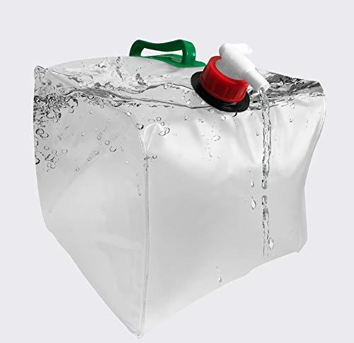 MAGFYLY Recipiente de agua de plástico El tanque de almacenamiento portátil al aire libre del hogar depósito de agua tanque plegable camping viajar en coche para picnics (tamaño: 10L)