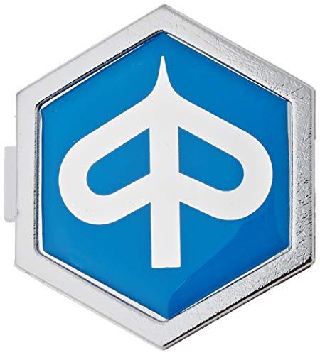 Emblem Piaggio 6-Eck Kaskade für Vespa PX T5 ET2 ET4 etc. - Aluminium, z. Stecken 32x37 mm