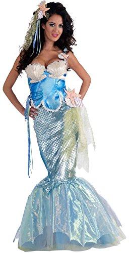 Forum Novelties Women's Deluxe Adult Mermaid Costume, Light Blue, X-Small/Small