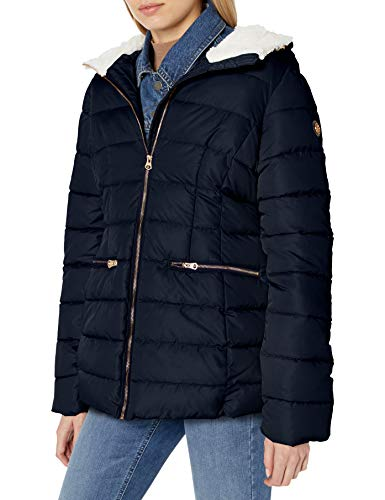Jessica Simpson Damen Puffer Jacket Daunenalternative, Mantel, Cozy Navy, Small