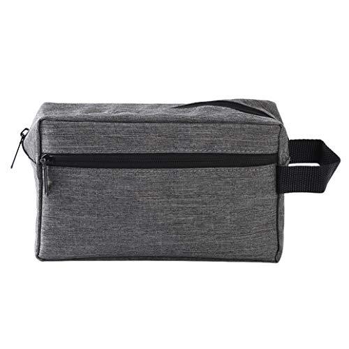GOMYIE Sac De Rangement Portable Grande Capacité Cosmetic Pouch Travel Sundries Sac De Rangement (Gris Clair)