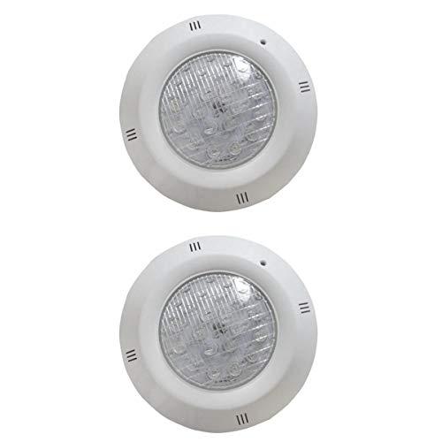perfk 2pcs 12W LED Spa Lights Schwimmbadlicht