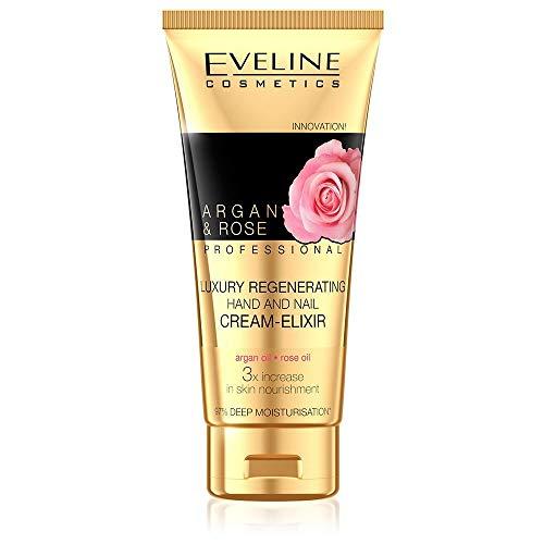 Eveline Cosmetics Crème régénérante pour les mains Eliksir Argan & Rose 100 ml