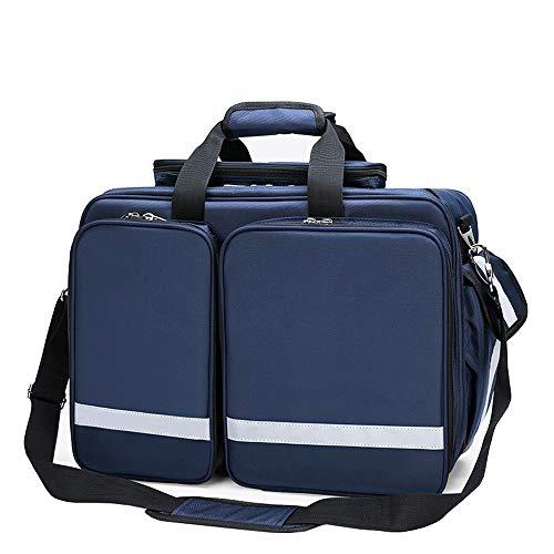 Uioy Erste-Hilfe-Kit - Tragbare Arzttasche, ambulant verpackt Großes Mehrzweck-Erste-Hilfe-Kit (Farbe : Blue)