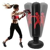 Saco de Boxeo de pie Hinchable para Suelo 160 cm Saco de Boxeo rellenable para Adultos y niños Saco de Arena para Fitness Independiente Adecuado para Familias, Patios, Gimnasios