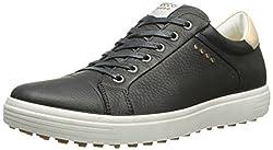 Ecco Mens Men's Golf Casual HYBRID Golf Shoes, Black (1001BLACK), 43 EU