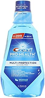 Crest Pro-Health 1 Liter Multi-Protection Refreshing Mouthwash, Clean Mint, 2.1875 Pound