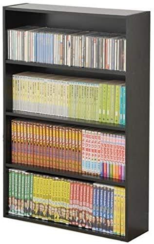 山善(YAMAZEN) マンガぴったり本棚カラーボックス ブラック CDCR-9060(BK)