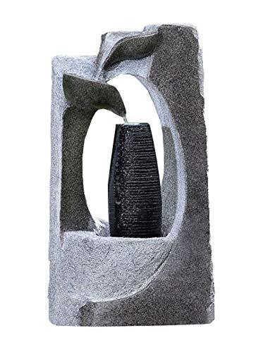 Kiom Fuente de jardín Fuente Decorativa FoColonnina para Exterior + Interior 87 cm