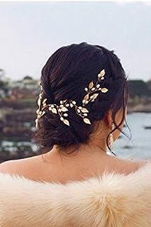 FXmimior - Cerchietto per capelli da sposa, con foglie di vite, accessorio per capelli da sposa, accessorio per capelli, s...