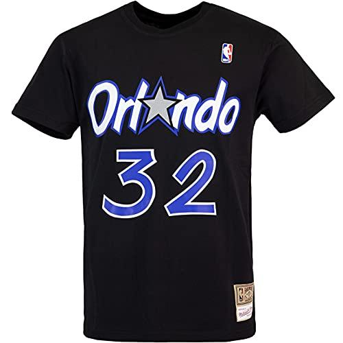 Mitchell & Ness NBA Shaquille O´Neal Orlando Magic Name & Number - Camiseta Negro XXL
