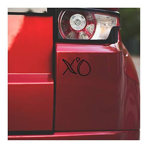 Underground Printing Hug and Kiss XO - Love Relationship Heart Vinyl Decalque Adesivo   10 cm de largura   Preto